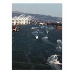 Puerto de Oakland Tarjeta Postal