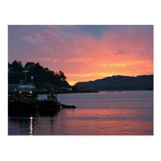 Puerto de Oban, Escocia Postales