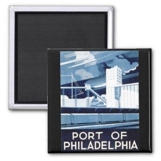 Puerto de Philadelphia Pennsylvania WPA 1936 Imán Para Frigorífico