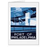 Puerto de Philadelphia WPA 1936 Tarjeta De Felicitación