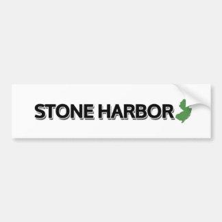 Puerto de piedra, New Jersey Pegatina Para Auto
