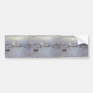 Puerto de Poole del buey de Philip Wilson Pegatina De Parachoque