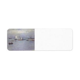 Puerto de Poole del buey de Philip Wilson Etiquetas De Remite
