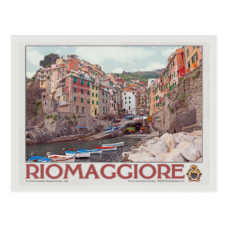 Puerto de Riomaggiore - en White.jpg Tarjeta Postal
