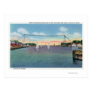 Puerto de Rochester y milicia naval de NY Tarjetas Postales