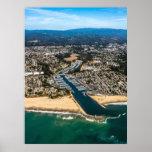 Puerto de Santa Cruz, impresión de Californa Poster