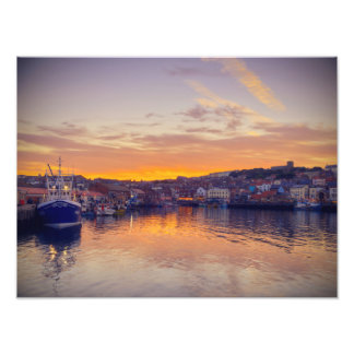 Puerto de Scarborough en la puesta del sol Fotografías