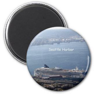 Puerto de Seattle Imán Redondo 5 Cm