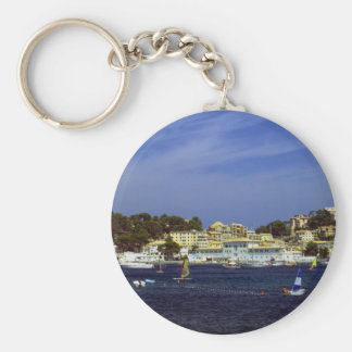 Puerto de Soller, Mallorca, Spain Keychain