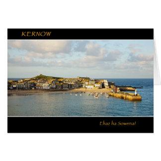 Puerto de St Ives en la luz de la tarde Tarjeta De Felicitación