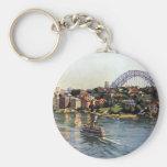 Puerto de Sydney, Australia Llavero Redondo Tipo Pin