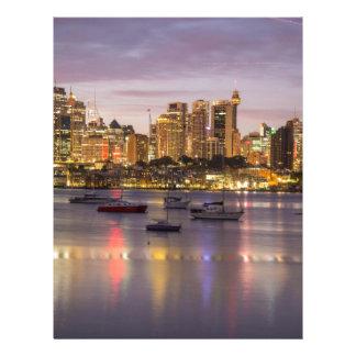 Puerto de Sydney, Australia Plantilla De Membrete