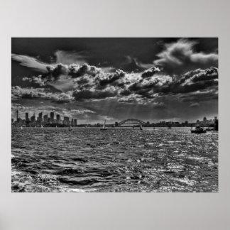 Puerto de Sydney del transbordador de hombres Poster