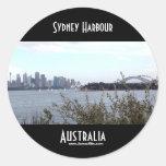 Puerto de Sydney Etiqueta Redonda