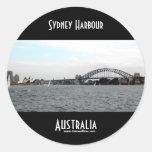 Puerto de Sydney Pegatina Redonda
