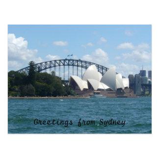 puerto de Sydney Tarjeta Postal