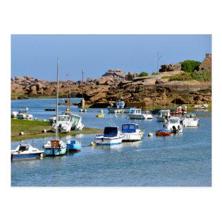 Puerto de Trégastel en Francia Postales