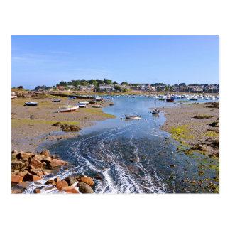 Puerto de Trégastel en Francia Tarjetas Postales