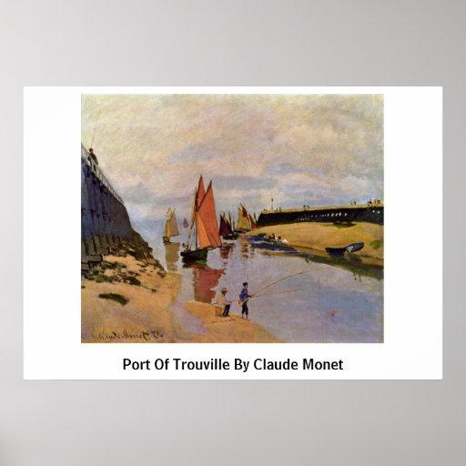Puerto de Trouville de Claude Monet Póster
