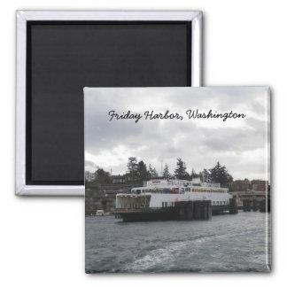Puerto de viernes Washington Imán De Nevera