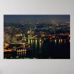Puerto de Yokohama de la torre de la señal Poster