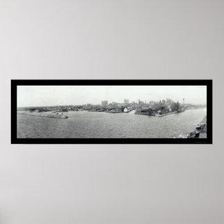 Puerto del búfalo, foto 1925 de NY Impresiones
