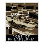 Puerto del estilo del art déco de Philadelpia Posters
