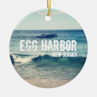 Puerto del huevo - 2013 - recuperación en la adorno redondo de cerámica