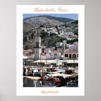 Puerto del Hydra, poster de Grecia