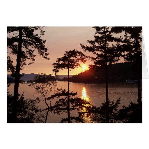 puerto del pender de la puesta del sol tarjeta pequeña