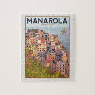 Puerto del viñedo de Manarola - en blanco Rompecabezas Con Fotos