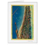 Puerto del yate, las palizadas, y Santa Mónica Tarjeta