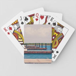 Puerto deportivo azul del asilo de Unsplash Baraja De Póquer