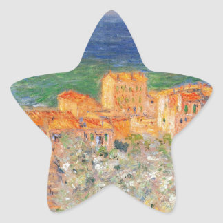 Puerto deportivo de Burgo en Bordighera de Claude Pegatina En Forma De Estrella