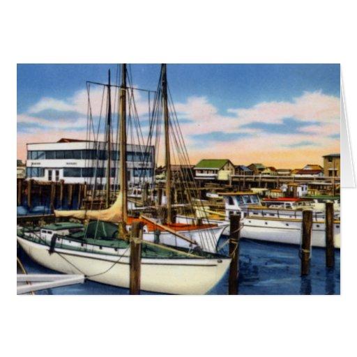 Puerto deportivo de Cape May New Jersey Rafferty Tarjetas