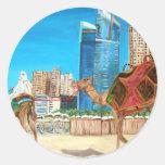 Puerto deportivo de Dubai Pegatinas Redondas