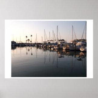 Puerto deportivo de Dunedin la Florida Poster