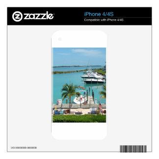Puerto deportivo de la isleta del halcón calcomanía para el iPhone 4