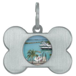 Puerto deportivo de la isleta del halcón placa de mascota