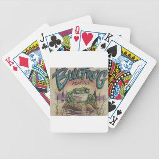 Puerto deportivo de la rana mugidora barajas de cartas