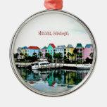 Puerto deportivo de Nassau Bahamas Ornaments Para Arbol De Navidad
