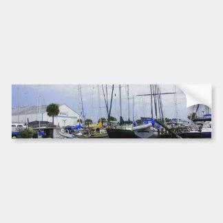 Puerto deportivo de Titusville Pegatina De Parachoque