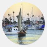 Puerto deportivo del puerto de San Diego Pegatinas Redondas
