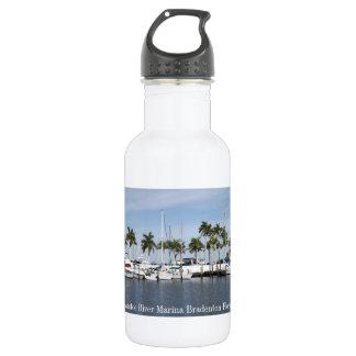 Puerto deportivo del río del Manatee botella de