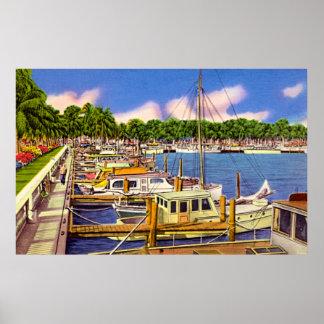 Puerto deportivo en fuerte Myers la Florida Posters