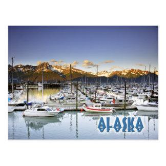 Puerto deportivo en Seward, Alaska Tarjeta Postal