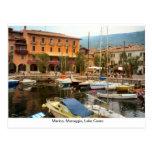 Puerto deportivo, Menaggio, lago Como Tarjeta Postal