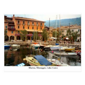 Puerto deportivo, Menaggio, lago Como Postales