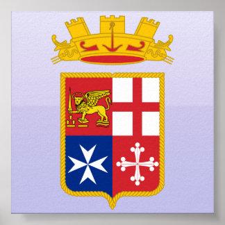Puerto deportivo Militare Italiana, Italia Poster