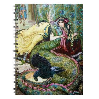 Puerto deportivo y el dragón libros de apuntes con espiral